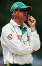 Ray Jennings having a think at the Wanderers ahead of the fourth Test agianst England, January 12, 2005