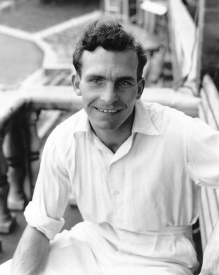 Tommy Greenhough at The Oval after his Test appearance against India where he took five wickets, August 13, 1959