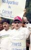 Protestors in Kolkata criticise the judgements of Mike Denness, November 20, 2001
