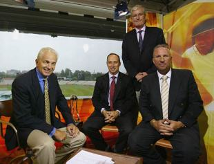 The BSkyB commentary team: David Gower, Nasser Hussain, Bob Willis, Ian Botham, South Africa, January 2005