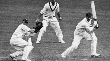 Len Hutton on his way to his record 364