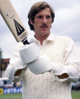 Ian Botham poses for the camera, 1977