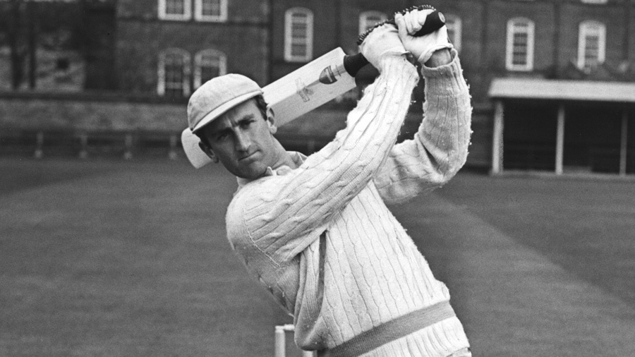 Ted Dexter practising at Fenners