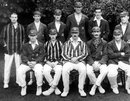 The Middlesex side that won the 1921 Championship. Richard Twining, Hugh Dales, Jack Hearne, Jack Durston, Arthur Tanner, Harry Lee; (front row, l-r) Patsy Hendren, Nigel Haig, Frank Mann, Hon Clarence Bruce, Joe Murrell.