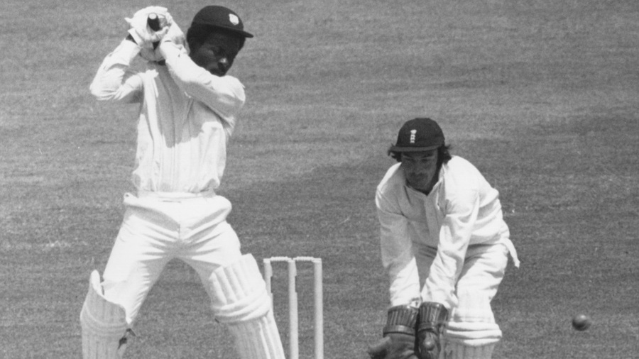 Roy Fredericks scores a century at Lord's