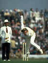John Lever lets it rip, Englishmen v East Zone, Jamshedpur, January 8, 1982