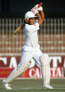 Sachin Tendulkar plays a shot, Pakistan v India, 3rd Test, Lahore, December 1989