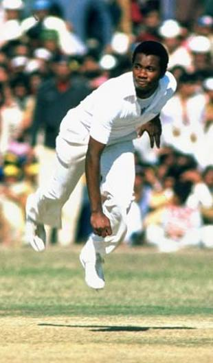Malcolm Marshall bowling in Barbados