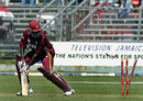 Wavell Hinds is bowled by Makhaya Ntini for 5