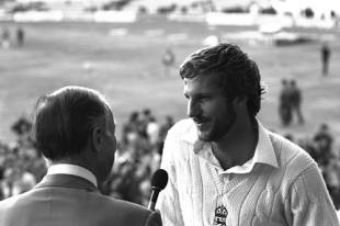 Peter West  interviews Man of the Match Ian Botham , England v Australia, 3rd Test, Headingley,  July 18, 1981