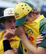 Brett Lee and Glenn McGrath wonder how they failed to win the final