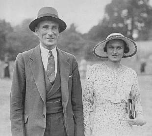 Douglas Jardine with his wife
