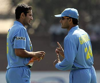 Image result for sourav ganguly with pathan