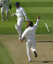 David Fulton is cleaned up by Peter Trego, Middlesex v Kent, Lord's, September 7, 2005