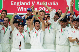 Michael Vaughan ends the 16-year wait as the Ashes return to England