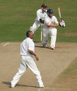 Min Patel looks on as Matt Prior holes out, Sussex v Kent, Hove, September 22, 2005
