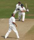Min Patel looks on as Matt Prior holes out, Sussex v Kent, Hove, September 22, 2005