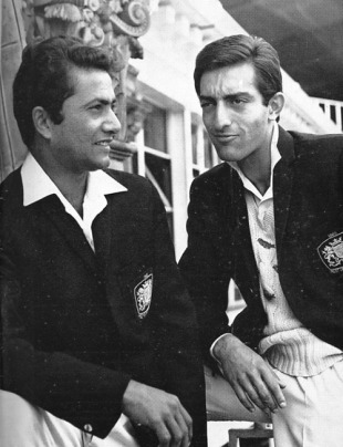 Pataudi (right) chats with Hanif Mohammad at Lord's