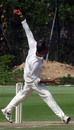 Naeem Ashraf bowling at the Hancock Shield 2005