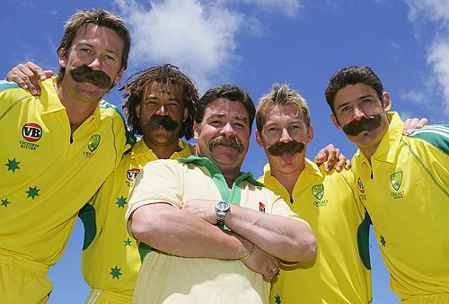 McGrath, Symonds, Boon, Lee and Hussey