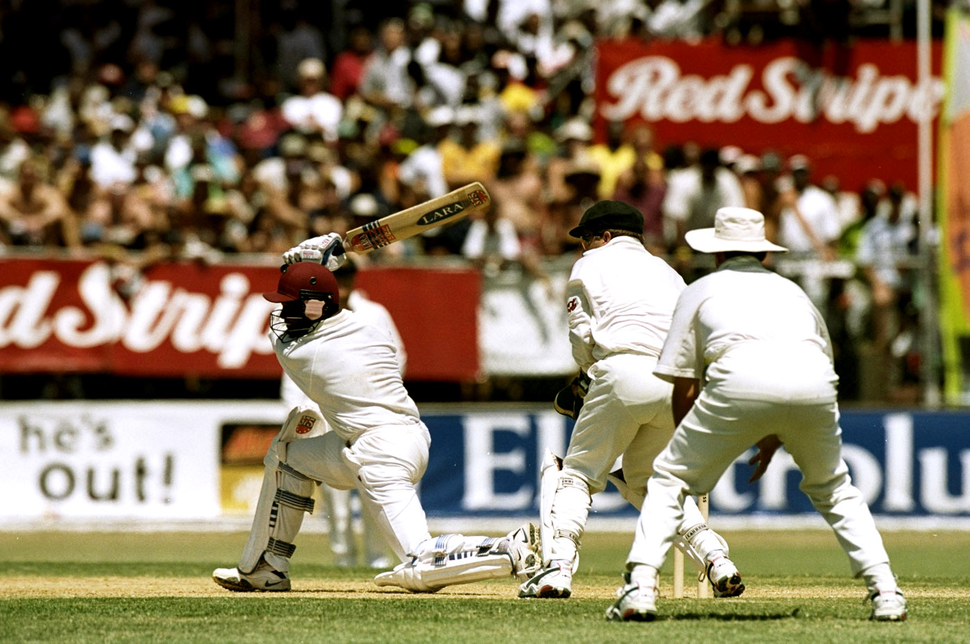 Brian Lara: an outstanding 153 in a successful fourth-innings chase