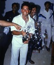 Sachin Tendulkar celebrates his first hundred in India, India v England, 2nd Test, Chennai, February, 1993