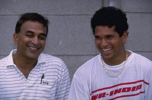 Sunil Gavaskar and Sachin Tendulkar on India's tour of South Africa, November 1992
