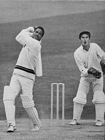 Garry Sobers bludgeons Illingworth for another four, England v West Indies, Old Trafford, June 12, 1969