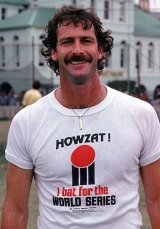 Dennis Lillee and his WSC t-shirt © Getty Images