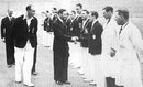 King George VI is introduced to Bernie Constable by Errol Holmes