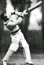 Andy Ganteaume batting on the 1957 England tour