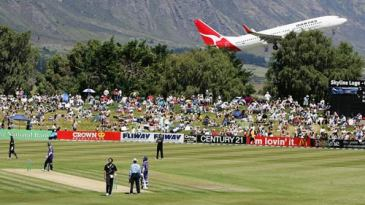 A plane adds to the picturesque settings at Queenstown