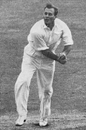 Athol Rowan bowling against England at Trent Bridge, England v South Africa, Trent Bridge, June 10, 1947