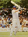 Eddie Barlow batting in his final season in first-class cricket, 1983