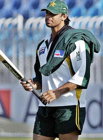Shoaib Akhtar will miss the second ODI against India, Rawalpindi, February 10, 2006