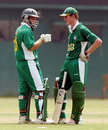 Pieter Daneel and Richard Levi of South Africa Under-19s, February 14, 2005