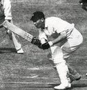 Bruce Mitchell pushes a single to reach his second-innings hundred against England at The Oval - he also made a century in the first, England v SOuth AFrica, 5th Test, The Oval, August 1947
