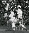 Tony Lewis sweeps on his way to 70*, India v England, 1st Test, December 1972