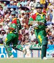 Javed Omar and Aftab Ahmed take a quick single, Bangladesh v Kenya, 2nd ODI, Khulna, March 20, 2006
