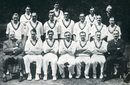 The MCC team which toured South Africa unbeaten in 1938-39: Back row - Bill  Edrich, Doug Wright, Eddie Paynter, WH Ferguson (scorer); middle row - 	Len  Wilkinson, Hedley Verity, Hugh Bartlett, Tom Goddard, Reggie Perks, Len Hutton, Paul Gibb; front - CR Ridgway (SA manager), Ken Farnes, NormanYardley, Wally Hammond (captain), Les Ames, Bryan Valentine, AJ Holmes (manager)