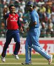 Kabir Ali celebrates dismissing Yuvraj Singh for 1
