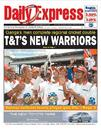 The front page of the <I>Trinidad & Tobago Express</I> celebrates victory,  April 20, 2006