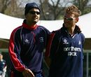 A relaxed Owais Shah and Chad Keegan ahead of the first day's play, Middlesex v Kent, Lord's, April 26, 2006
