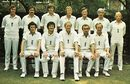 The England XII against Australia, 2nd Test, Lord's, July 1975 Back: Bob Woolmer, Graham Gooch, Chris Old, Peter Lever, Dennis Amiss, David Steele, Barry Wood. Front: John Snow, Alan Knott, Tony Greig, John Edrich, Derek Underwood.