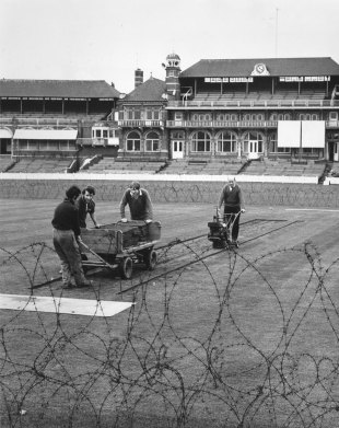 Security at The Oval ahead of the planned South Africa tour in April 1970. The trip was eventually cancelled, April 20, 1970