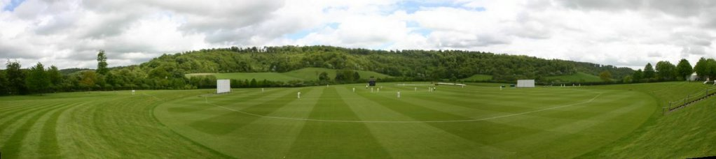 A panorama of Sir Paul Getty's ground at Wormsley Park | Cricket ...