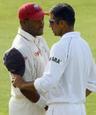 Brian Lara and Rahul Dravid shake hands after the battle, West Indies v India, 2nd Test, St Lucia, 5th day, June 14, 2006