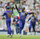 That's the one - Sanath Jayasuriya celebrates dismissing Kevin Pietersen for 73, England v Sri Lanka, The Oval, June 20, 2006