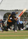 Sachin Tendulkar sweeps during his 155, Cambridge University v Lashings World XI, Fenner's, June 21, 2006
