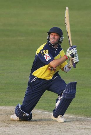 Ian Harvey on his way to 48 off 21 balls, Gloucestershire v Glamorgan, Bristol, July 4, 2006
